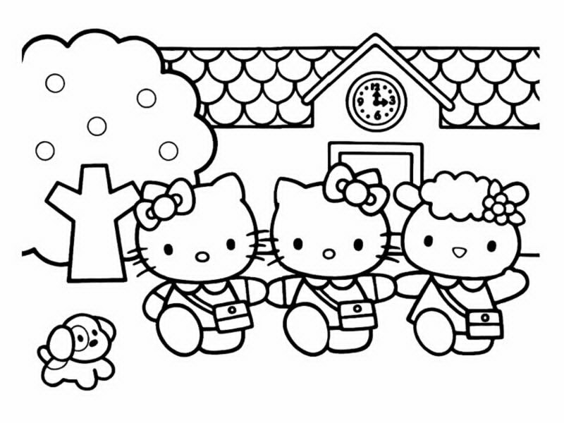 Coloriages hello kitty - Coloriage hellokitty ...