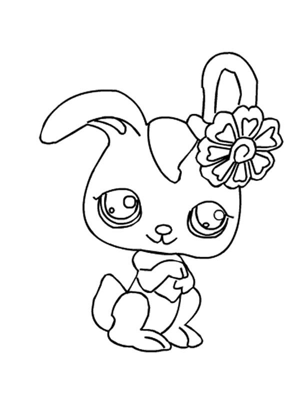 Coloriages petshop coloriage manga super facile de petit animaux - Petshop a colorier ...